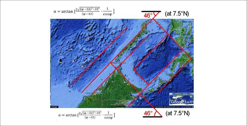 Palawan and Borneo - squares