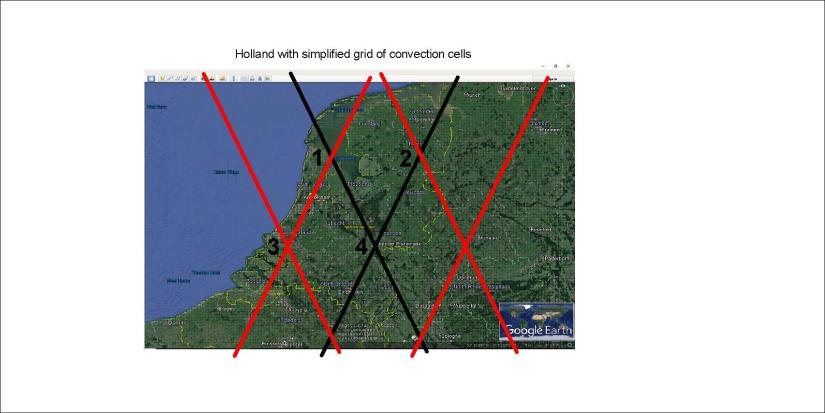 Holland - convection lines