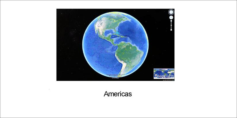 earth on 3 sides - americas