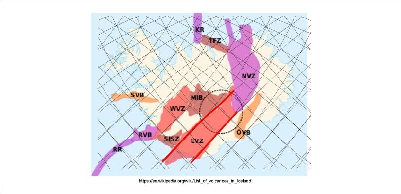 Volcanic zones - EVZ