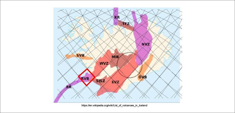 Volcanic zones - RVB