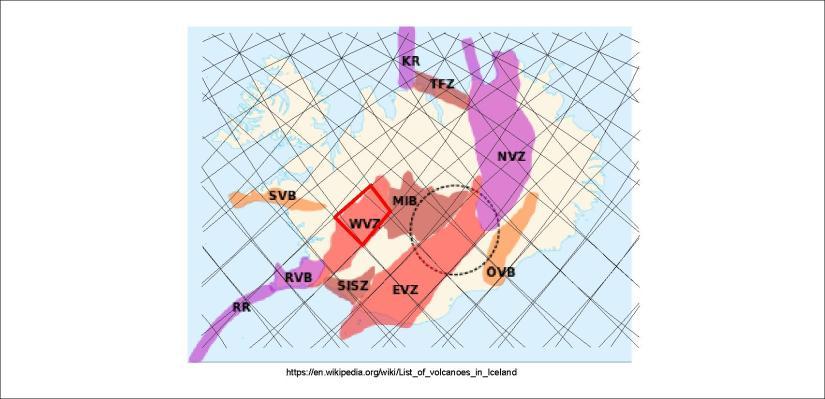 Volcanic zones - WVZ 01