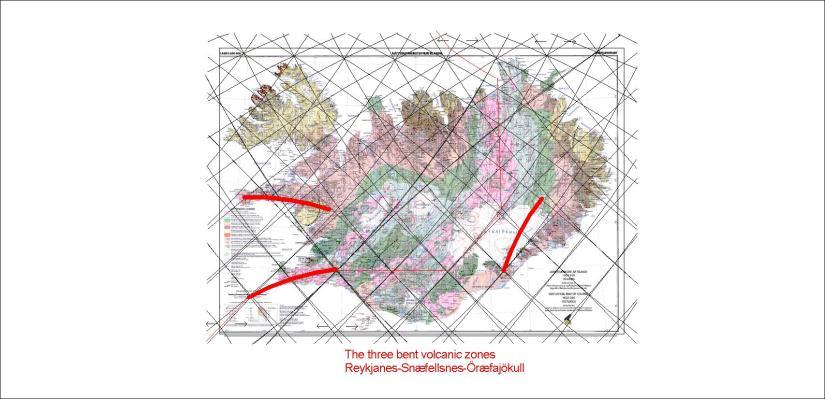 The bent volcanic zones