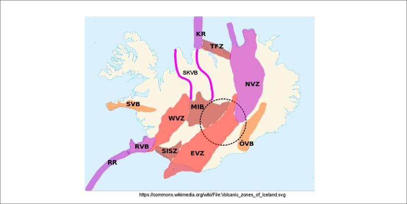 Volcanic Zones and Belts of Iceland - Skagafjörður Volcanic Belt added