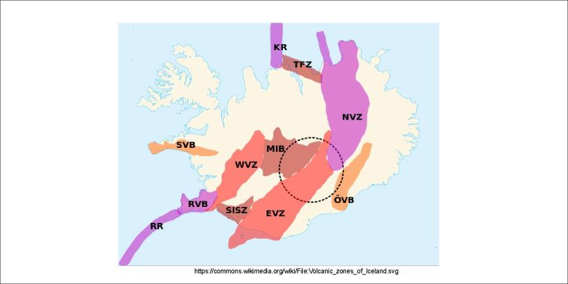 Volcanic Zones and Belts of Iceland